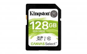 Kingston 128GB SDXC Canvas Select Class10 UHS-I
