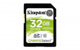 Kingston 32GB SDHC Canvas Select Class10 UHS-I